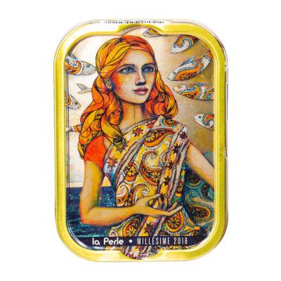 Jahrgangssardinen 2018 Mademoiselle Perle en Inde, La Perle des Dieux, 115g