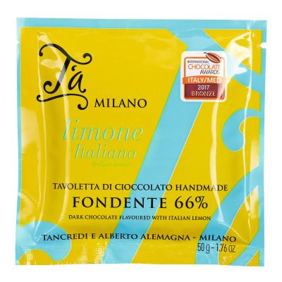Tavoletta Fondente e Limone, T´a Milano, 50g