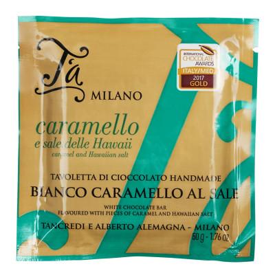 Tavoletta Bianco Caramello al Sale, T´a Milano, 50g
