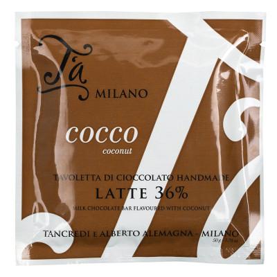 Tavoletta Latte e Cocco, T´a Milano, 50g